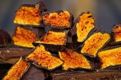 Crunchy honeycomb cukierku czekolada Obraz Royalty Free