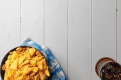 Crunchy kukurydzana rożek przekąska obraz royalty free