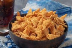 Crunchy kukurydzana rożek przekąska zdjęcia royalty free