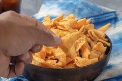Crunchy kukurydzana rożek przekąska zdjęcie royalty free