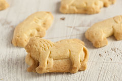 Crunchy Lemon Animal Cracker Cookies Stock Photography