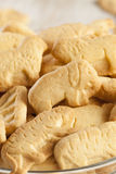 Crunchy Lemon Animal Cracker Cookies Stock Photo