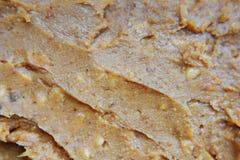 Crunchy masło orzechowe tekstura zdjęcie stock