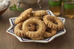 Crunchy Moroccan fekkas cookies Royalty Free Stock Photo