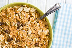 Crunchy muesli in bowl Royalty Free Stock Photo