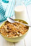 Crunchy muesli in bowl Stock Image
