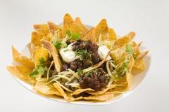 crunchy nachos вкусные стоковая фотография rf