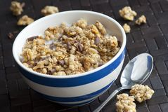 Crunchy nut clusters Royalty Free Stock Photo