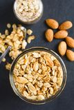 Crunchy Oatmeal and Almond Granola stock photo