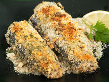 Crunchy Oven-Fried Fish Stock Photography