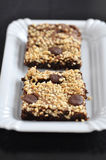 Crunchy Peanut Brownies Royalty Free Stock Images