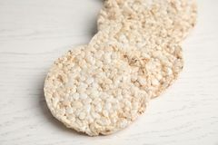 Crunchy rice cakes stock photos