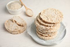 Crunchy rice cakes royalty free stock photography