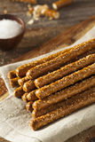 Crunchy Salty Pretzel Rods Royalty Free Stock Photography
