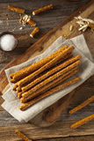 Crunchy Salty Pretzel Rods. Ready to Eat Royalty Free Stock Photos