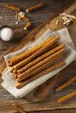 Crunchy Salty Pretzel Rods Royalty Free Stock Photos
