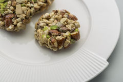 Crunchy sweet. Made of dry fruits Stock Image