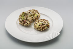 Crunchy sweet. Made of dry fruits Royalty Free Stock Images