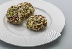 Crunchy sweet. Made of dry fruits Royalty Free Stock Photos