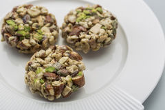 Crunchy sweet. Made of dry fruits Royalty Free Stock Photo
