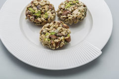 Crunchy sweet. Made of dry fruits Stock Photos