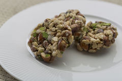 Crunchy sweet. Made of dry fruits Royalty Free Stock Photography