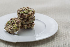Crunchy sweet. Made of dry fruits Stock Images