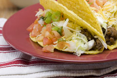 Crunchy taco detail Royalty Free Stock Image