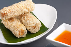 Crunchy Thai Egg Rolls Royalty Free Stock Photos