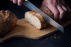 Crunchy whole grain bread Stock Images