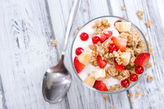 Crunchy Yoghurt Royalty Free Stock Images