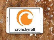 Crunchyroll Video streaming service logo. Logo of Crunchyroll Video streaming service on samsung tablet. Crunchyroll is an American distributor, publisher stock photos
