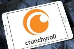 Crunchyroll Video streaming service logo. Logo of Crunchyroll Video streaming service on samsung tablet. Crunchyroll is an American distributor, publisher stock photo