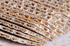 Cruncky bread. Slices of crunchy bread for diet Royalty Free Stock Images