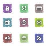 Crunge icon set Stock Images