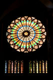 Crurch window. Gothic crurch cathedral color window stock photos