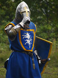 Crusader with armour Stock Photo