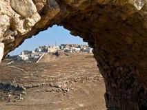 Crusader castle Al - Kerak, Jordan stock photos