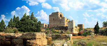Crusader castle byblos-lebanon Royalty Free Stock Photos