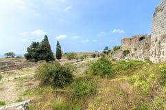 Crusader castle, Byblos, Lebanon Royalty Free Stock Photos
