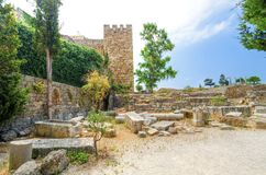 Crusader castle, Byblos, Lebanon Stock Images