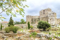 Crusader castle, Byblos, Lebanon Royalty Free Stock Images