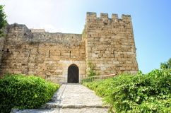 Crusader castle, Byblos, Lebanon Stock Photos