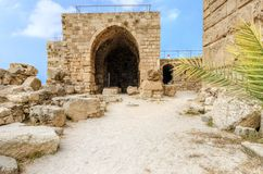 Crusader castle, Byblos, Lebanon Stock Photography