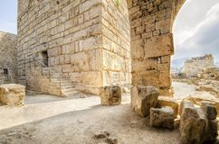 Crusader castle, Byblos, Lebanon Royalty Free Stock Photography