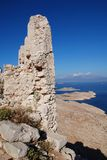 Crusader castle, Halki island Royalty Free Stock Photos