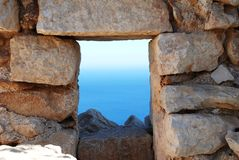 Crusader castle, Halki island Royalty Free Stock Image