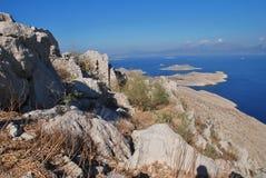 Crusader castle, Halki island Stock Photography