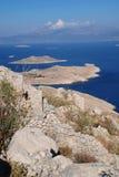 Crusader castle, Halki island Stock Images