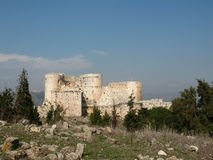 Crusader castle Krak des Chevaliers. Stock Photography